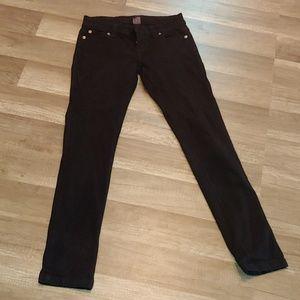 Blue Asphalt black skinny jeans size 0 short